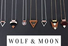 Wolf  Moon - Geometric Jewellery