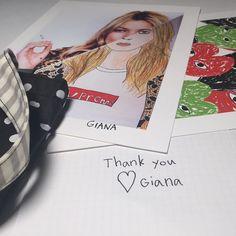 Thanks for all the LOVE #gianasart #deargiana #7yearsold #supremenewyork #commedesgarcons