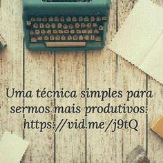 Assista em: https://vid.me/j9tQ #produtividade #comoserprodutivo #tecnica #vidme #sessaoyoutubistica