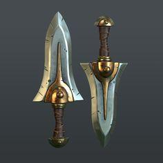 PBR rendered dagger asset / stylized art. Stevston89 on Polycount.com