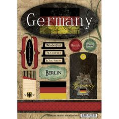 Germany - Travel Scrapbooking Stickers