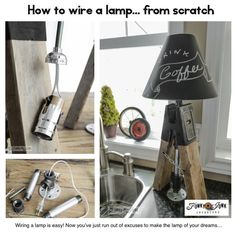 How to wire a lamp... from scratch. This guide goes over tools, supplies, and where to buy! Lots of pictures and inspiration. #ebay