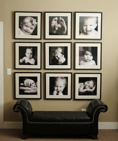 I love this photo wall