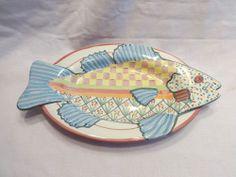 Fish Platter.  Blue color.