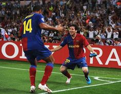 Thierry Henry and Messi