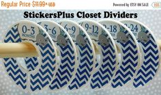 BIG SALE 6 Baby Closet Dividers Organizers Whale Nautical Navy Blue Grey Gray Baby Shower Gift Nursery Clothes Organizer Assembled or DIY Pr by StickersPlus on Etsy https://www.etsy.com/ca/listing/248759504/big-sale-6-baby-closet-dividers