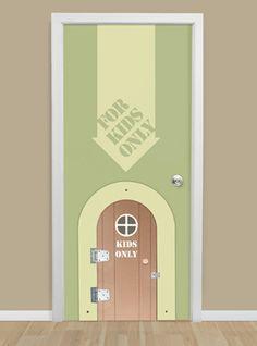 top 1/2 door only on playroom