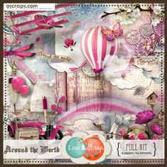 Around the World {Full kit} #Oscraps #products #scrapbookdigital #sales #lineascrap #scrapbook #digital