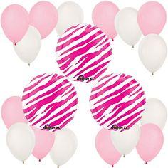 Pink Zebra - Bridal Shower Balloon Kit #bridalshowerballoons #BigDot #HappyDot