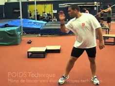 SHOT PUT LINEAR Exercices by Didier POPPE 1-INITIATION 2-STANDING THROW