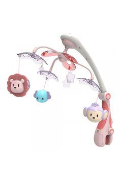 Kolotoč nad postieľku so svetelným projektorom Baby Mix safari rúžový Safari, Baby, Babys, Infant, Babies, Infants, Kid, Child