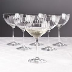 Waterfall Champagne Coupe - Set of 6 | Brissi