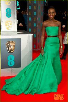 Lupita Nyong'o - BAFTAs 2014 Red Carpet | lupita nyongo 2014 baftas red carpet 01 - Photo