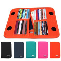 Bubm Portable Credit Cards Business Id Card Collect Holder Purse Wallet Bag