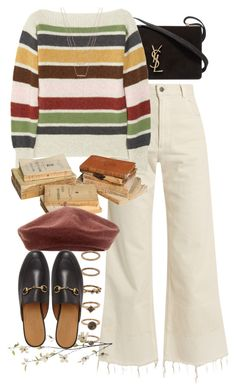 A fashion look from January 2017 featuring striped shirt, high waisted jeans and gucci shoes. Browse and shop related looks. Vintage Outfits, Retro Outfits, Casual Outfits, Look Fashion, Korean Fashion, Fashion Outfits, Womens Fashion, Polyvore Outfits, Harry Styles Clothes
