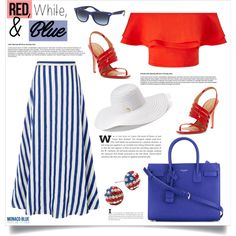 Red, White and Blue Fashion (Top Fashion Set 29/06/2016) by southindianmakeup1990 on Polyvore featuring moda, Miss Selfridge, L.K.Bennett, Calvin Klein, Yves Saint Laurent, Silver Treasures, Jennifer Lopez, Ray-Ban and Pantone