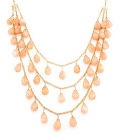 Avery Layered Peach Necklace