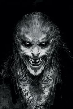 The Harry Potter Movies Were Supposed To Be A LOT Scarier #refinery29 http://www.refinery29.com/2014/11/78047/scary-harry-potter-concept-art#slide1 Fenrir Greyback
