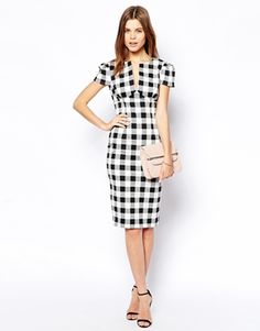 Enlarge ASOS Sexy Pencil Dress in Check