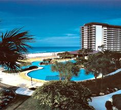 Edgewater Beach & Golf Resort in Panama City Beach, Florida -- Choose from ten swimming pools featuring the famous Gulf front lagoon pool and four hot tubs. Food and beverage options include two restaurants, pizza and full service deli featuring Starbucks. Additional resort amenities include world class health club and Spa, tennis complex, golf course, children's activities and beach equipment rentals.