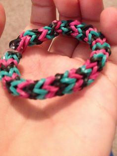 Chevrone rainbow loom bracelet