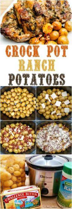 Crock Pot Bacon Ranch Potatoes | SlowCookerKitchen.com