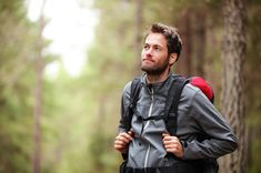 Hiker - man hiking in forest. Male hiker looking to the side walking in forest. Caucasian male model outdoors in nature. by Maridav, via Shu. Best Hiking Gear, Men Hiking, Hiking Tips, Pleasant Valley, Ways To Stay Healthy, Healthy Life, Sport Fitness, Gap Year, Dio