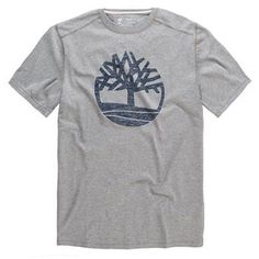 Timberland - T-shirt SS Kennebec River Tree Tee Homme - Coupe Droite - medium grey
