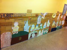The Hobbit: great idea to make a timeline of The Hobbit for the classroom!