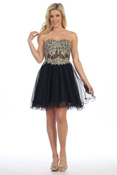 Above Knee Length A-Line Homecoming and Cocktail Dress features Floral  Design Embroidery Embellished Bodice 5b520113f
