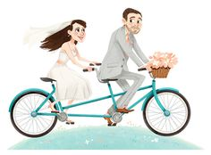 Illustration for a couple's wedding website.