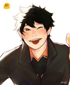 Akihiko (KageHina)  http://noranb.tumblr.com/post/122797287338/for-the-emoji-challenge-will-do-other-characters