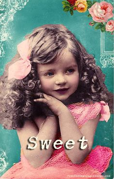 **FREE ViNTaGE DiGiTaL STaMPS**  Sweet Vintage Girl Photo Printable...