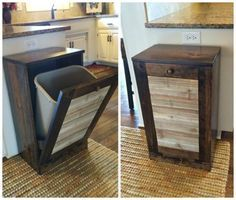 DIY Pallet Trash Cabinet and many other pallet ideas