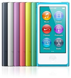 Apple iPod nano | A full re-design brings us a 2.5-inch screen, a 38% thinner profile, plus a 30-hour battery life, built-in pedometer, FM tuner, Bluetooth, and up to 16GB of storage. |