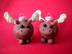 Moose Christmas Decorations by Sleepydenas on Etsy, $10.50