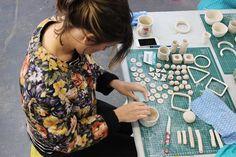 guest workshop - painted porcelain treasures workshop with sophie morris - july 2013 by harvest textiles   harvest workroom, via Flickr