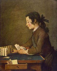 """Boy playing Cards"" by Jean Siméon Chardin (1740)"