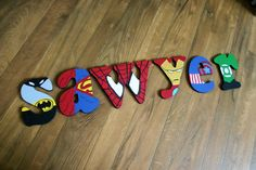 Superhero Painted Letters