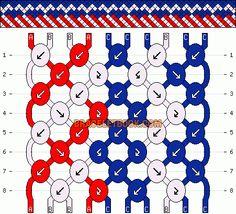 Normal Friendship Bracelet Pattern #12857 - BraceletBook.com