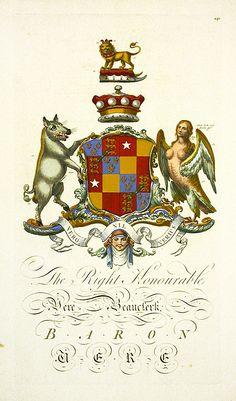 Segar Heraldic Crests Baronagium Geneaologicum 1764 - Vere Beanslerk