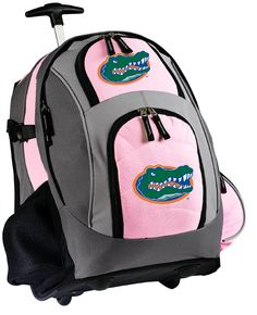 Florida Gators Rolling Backpack Pink great for traveling