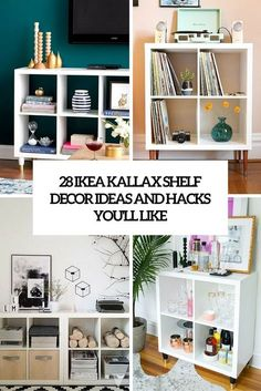 Hottest Totally Free 28 IKEA Kallax Shelf Décor ideas and hacks you'll love Ti. Hottest Totally Free 28 IKEA Kallax Shelf Décor ideas and hacks you'll love Tips The IKEA Kal Etagere Kallax Ikea, Ikea Kallax Shelf, Ikea Shelves, Shelves In Bedroom, Ikea Kallax Hack, Book Shelves, Kallax Desk, Ikea Shelf Hack, Book Storage