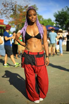 "aagdolla: "" Purple hair at Afro Punk Festival 2015 by aagdolla """