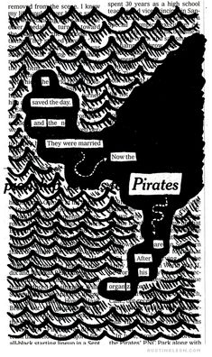 he saved the day / and then they were married / now the pirates / are after his organz