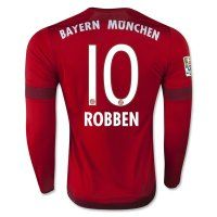 Bayern Munich 2015-2016 Season ROBBEN #10 LS Home Soccer Jersey [B980]