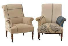 Antique French Armchairs,  Pair on OneKingsLane.com
