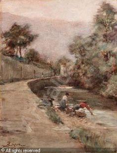 ZEZZOS Alessandro,Lavandaie a Vittorio Veneto,Finarte,Venezia