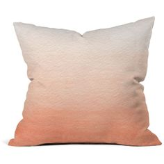 """Deny Ombre Decorative Pillow, 16"""" x 16"""" ($20) ❤ liked on Polyvore featuring home, home decor, throw pillows, coral, deny designs home accessories, deny designs and deny designs throw pillows"""