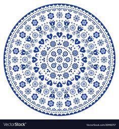Mandala black and white vector art, australian dot painting decorative design, aboriginal folk art Folk Art Flowers, Flower Art, Mandala Pattern, Mandala Design, Swedish Tattoo, Flower Crown Tutorial, Blue White Background, Doodle, Mandalas Drawing